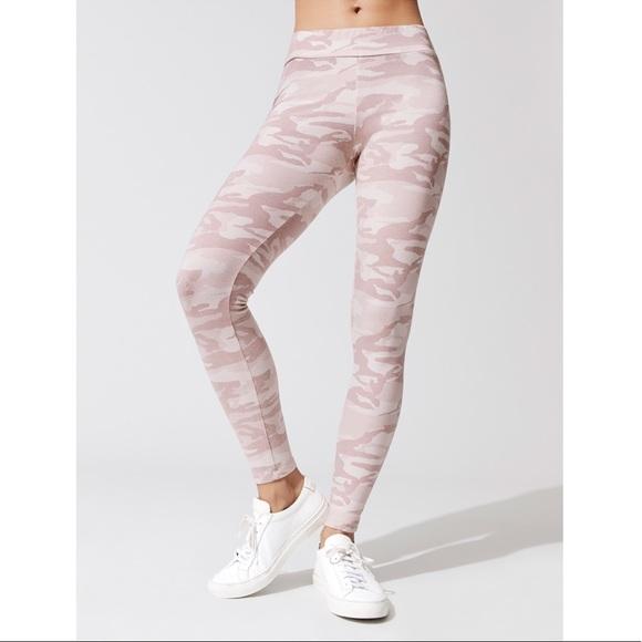 06c15c4da4c00 Monrow Pants | Nwt Pink Camo Cotton Leggings Camoflauge | Poshmark